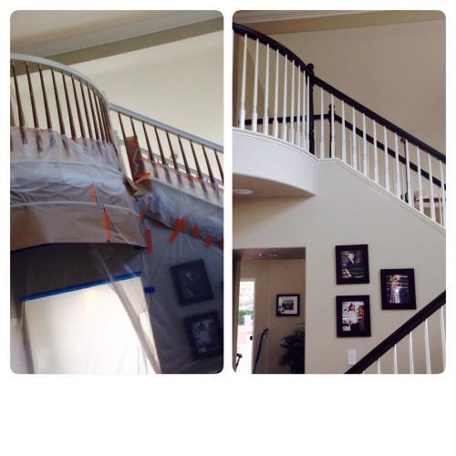 Residential Interior Pigmented Laquer Handrail