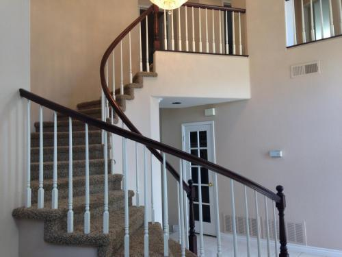 residential interior handrail after